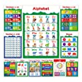 11 Educational Posters for Toddlers and Kids - Perfect for Children Preschool & Kindergarten Classroom Decorations - Alphabet ABC Poster, Numbers, Weather Chart, Shapes, Colors - 13x19