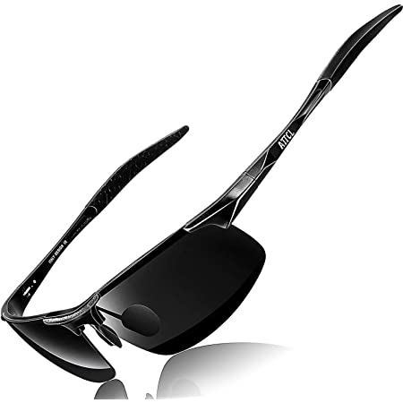 ATTCL Mens Fashion Driving Polarized Sunglasses Man Al-Mg Metal Frame Ultra Light