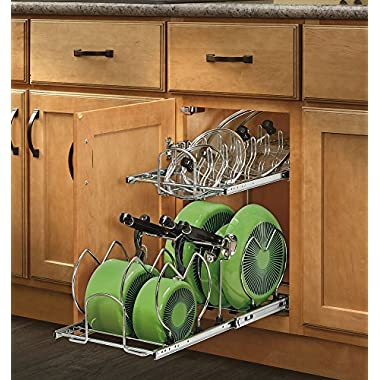 Rev-A-Shelf 5CW2-1222-CR - 12 in. Pull-Out 2-Tier Base Cabinet Cookware Organizer