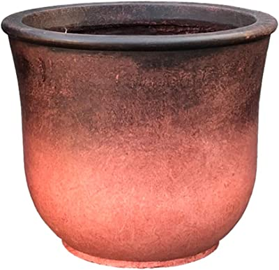 Kante RC0114C-C80151 Lightweight Modern Vibrant Ombre Round Planter, Red