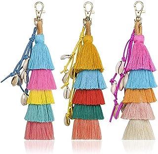 Hand Made Colorful Bohemian Tassel Bag Charm Keychain Handbag Pendant