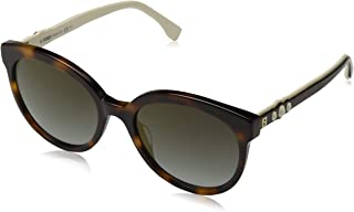 Fendi Women's FF 0268/S FQ 086 56 Sunglasses, Dark Havana Grey
