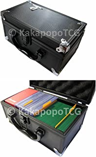 D3 Black Metal Storage Carry Case Cube for Trading Cards Deck Box Toploader TCG Ultra Pro Protector Sleeve Card Game MTG Magic The Gathering YGO Yugioh Wow Pokemon Match Attax Dice Counter Vanguard