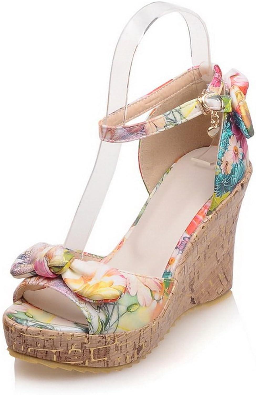AN Womens Platforms-Sandals Baguette-Style Mini-Size Urethane Platforms Sandals DIU00797