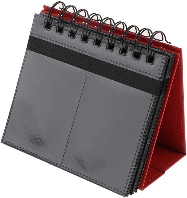 P Prettyia 3 Pulgadas Álbum Slip-in 68 Foto de Bolsillo Calendario Vertical para Papel de Película Polaroid Snap Touch (Rojo)