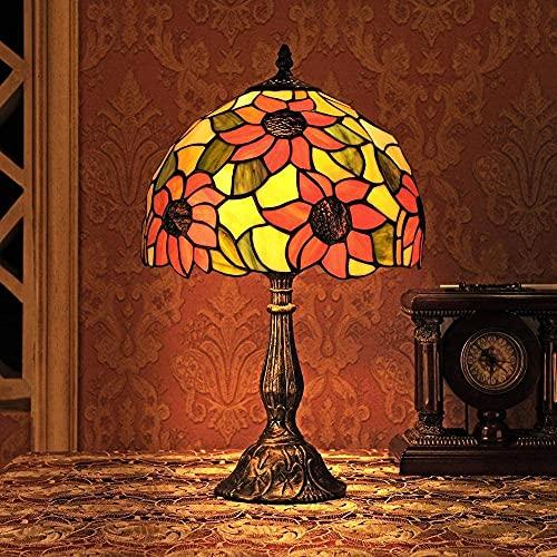 MUZIDP Lámpara de la Mesa de la lámpara de la lámpara de la lámpara de la lámpara de la lámpara del Girasol de 12 Pulgadas de la lámpara de Dormitorio [Energy Class A +]