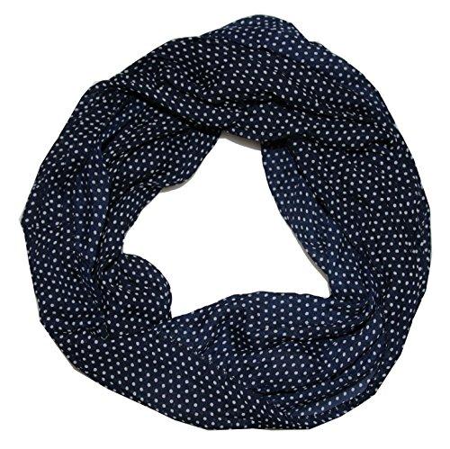 ACC Punkte Seidenschal Seide Loop Schal (Punkte königsblau)