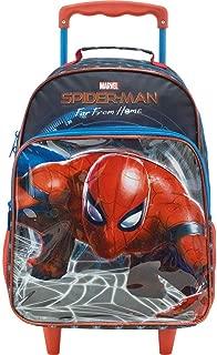 Mala com Rodas 16 Spider Man Filme Teioso 8690 - Artigo Escolar Spider-Man, Azul