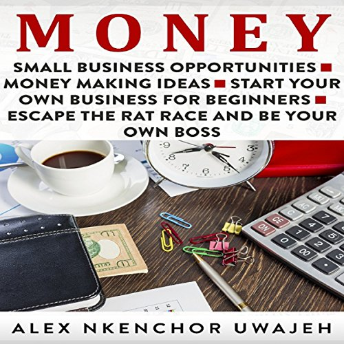 Money: Small Business Opportunities - Money Making Ideas - Start Your Own Business for Beginners - Escape the Rat Race and Be Your Own Boss audiobook cover art