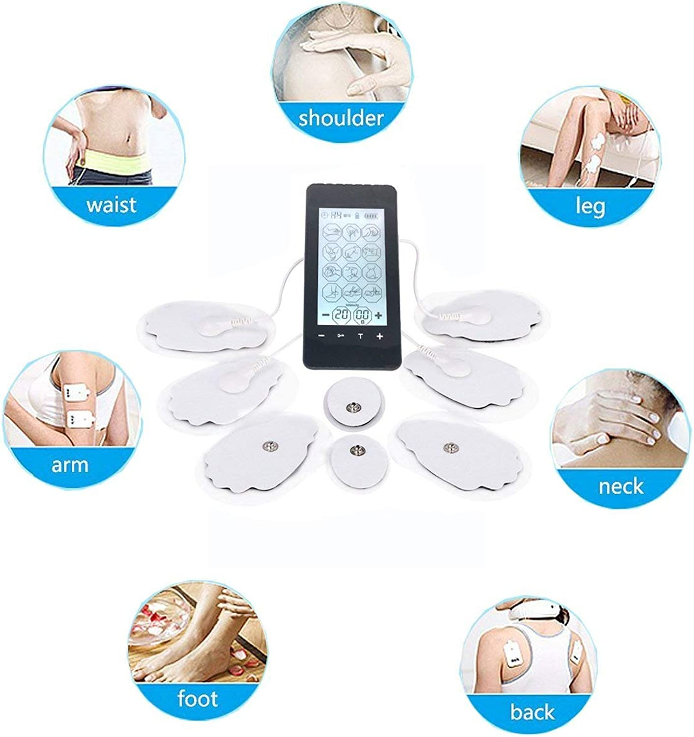 Electronic Pulse Muscle Nerve Stimulators Acupuncture Massager EMS Combination Muscle Stimulator for Pain Management for Back, Neck, Arms, Legs, Abs, Arthritis and Sciatic Pain Relief and Rehabilitation