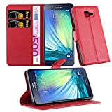 Cadorabo Funda Libro para Samsung Galaxy A5 2016 en Rojo CARM�N - Cubierta Proteccíon con Cierre Magnético, Tarjetero y Función de Suporte - Etui Case Cover Carcasa