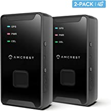 Amcrest 2-Pack 4G LTE GPS Tracker - Mini Hidden Real-Time GPS Tracking Device for Vehicles, Cars, Kids, Persons, Assets w/Geo-Fencing, Text/Email/Push Alerts, 14 Day Battery, Global, No Contract