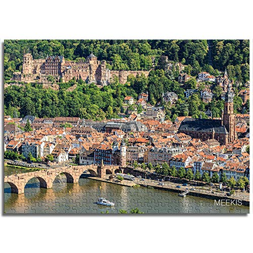 BOVIENCHE Micro Paper Jigsaw Puzzle For Adults 1000 Heidelberg Town Living Room Home Toys Fun Games Educational Toy For Kids and Adults (38 X 26Cm)