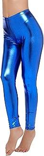 LGL Party Metallic Leggings Stretchy Pants Neon Shiny