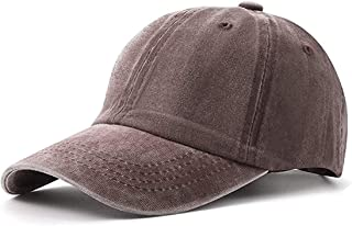 AMAZACER Kids Vintage Washed Baseball Cap Boy Girl Adjustable Snapback Hat (Color : Brown)