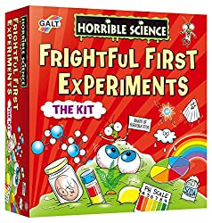 A Horrible Science kit for young scientists to encourage early STEM learning Discover how to stack lively liquids, perform eye-popping illusions and make your breakfast fly. Includes a 40-page Lab Notebook with 18 fun experiments Contains 3 test tube...