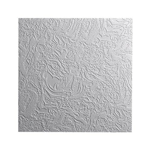DECOSA Styropor Deckenplatten AP 101 (BERN) in Putz Optik - 40 Platten = 10 m2 - Edle Deckenpaneele weiß - Dekor Paneele 50 x 50 cm - Decken Styroporpaneele