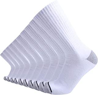 10P Pack Men's Cotton Moisture Wicking Heavy Cushion Crew Socks