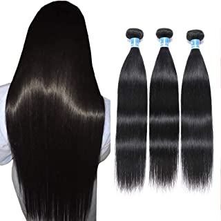 """Best 10A Peruvian Straight Hair 3 Bundles Virgin Human Hair 100% Unprocessed Peruvian Straight Virgin Hair Bundles 100g Per Bundle Double Weft Can Be Dyed and Bleached 18"""" 20""""22"""" inches Review"""