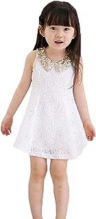 Meng Fan ガールズ 子供 少女 淑女 きらきら光る ワンピース 上品でプリンセススカート シフォン ノースリーブ 百搭 プリンセススカート