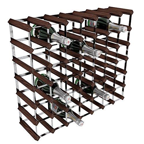 RTA GLOBAL, Porta-Bottiglie di Vino, 49 Posizioni, in Acciaio/Mogano, Marrone (Mahogany), metallo