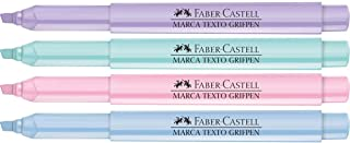 Caneta Marca Texto 4 Cores Tons Pastel 12 Unidades, Faber-Castell