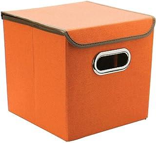 sourcing map Pliable Stockage Cubes Paniers avec Métal Poignées Dimicile Décoratif Tissu Stockage Panier Organisateur Plac...