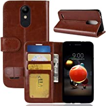 Mobile phone case For LG K8 (2018) PU + TPU Crazy Horse Texture Horizontal Flip Leather Case with Wallet & Holder & Card Slots (Black) (Color : Brown)