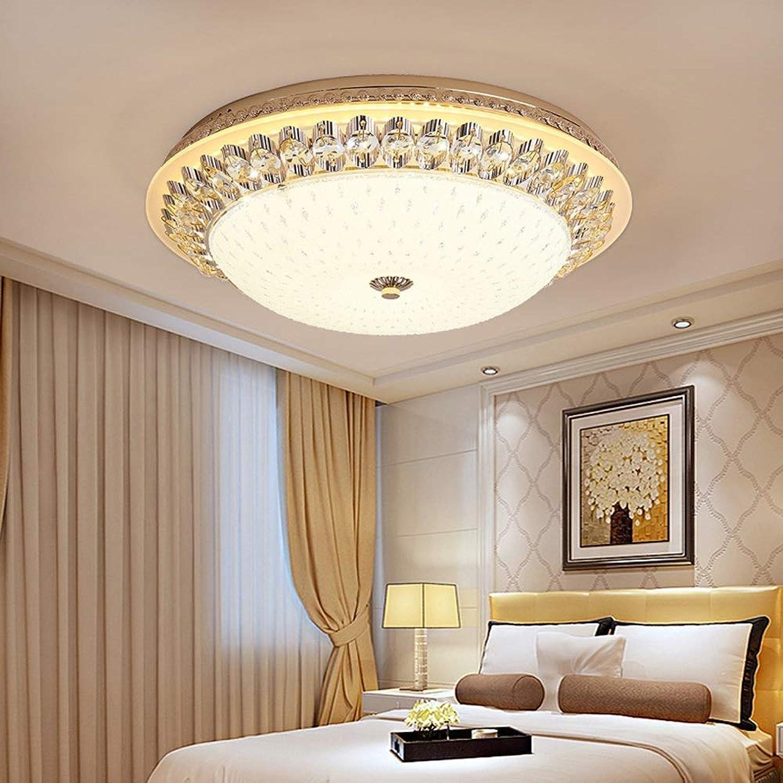XFZ Plafonnier en Cristal à LED européenne européenne Ronde Lampe de Plafond en Verre doré Moderne Simple Salon Chambre Crystal lumière (Taille  30cm)