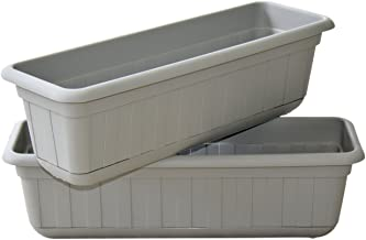 Premium High-Density Plastic Planter & Flower Window Box Gina 18
