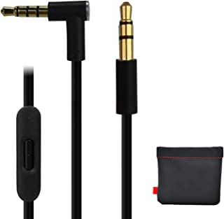 Cable de repuesto para auriculares Dr Dre Beats Monster con mando a distancia Pro Solo Studio Mixr Aux negro