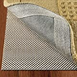 DoubleCheck Products Non Slip Area Rug Pad Size 4 X 6 Extra Strong Grip Thick Padding and