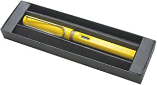 Lamy Safari Fountain Pen, Yellow Fine Nib (L18F) (Yellow Fountain Pen with Gift Box)