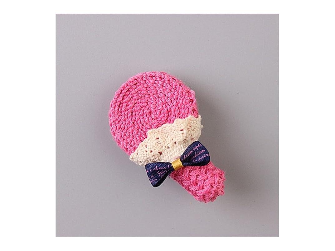 ワーディアンケース意気揚々寄稿者Osize 美しいスタイル 弓編みヘアクリップ子供のバングクリップヘアアクセサリーヘアスタイルツール(ロージーロリポップ)