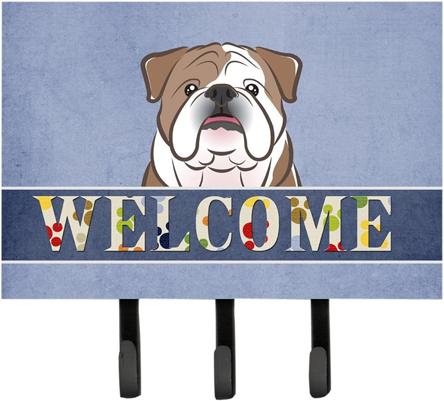 Caroline's Treasures BB1405TH68 English Bulldog Welcome Leash or Key Holder, Large, Multicolor