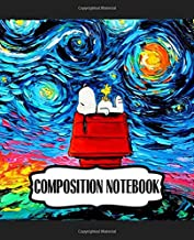Composition Notebook: The Peanuts Snoopy Comic Strip Beagle Dog House Animation Inexpensive Gift For Boys And Girls Boys Kids Adults Elementary ... Soft Cover Paper 7.5 x 9.25 Inches 110 Pages