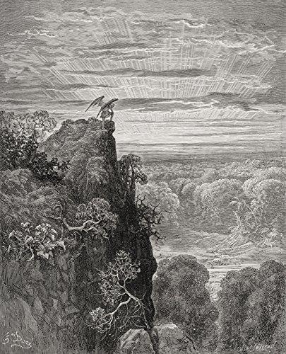 Ilustração de Gustave Dore 1832-1883 Artista e ilustrador francês para o paraíso perdido por John Milton Book IV Lines 172 Poster Print44; Grande - 66 x 81 cm