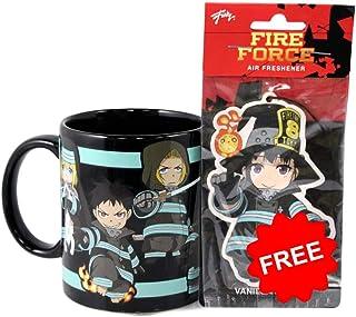 Fire Force Fire Company 8 glow in the dark 11 oz Coffee Mug, Chibi, the 8th company, air freshener featuring Chibi Maki th...