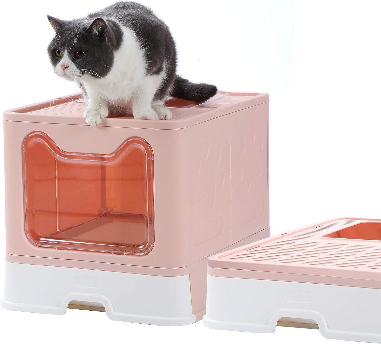 Dymoll Enclosed Branded goods Litter Box Manufacturer direct delivery Large Foldable Top Entrance Litt Cat