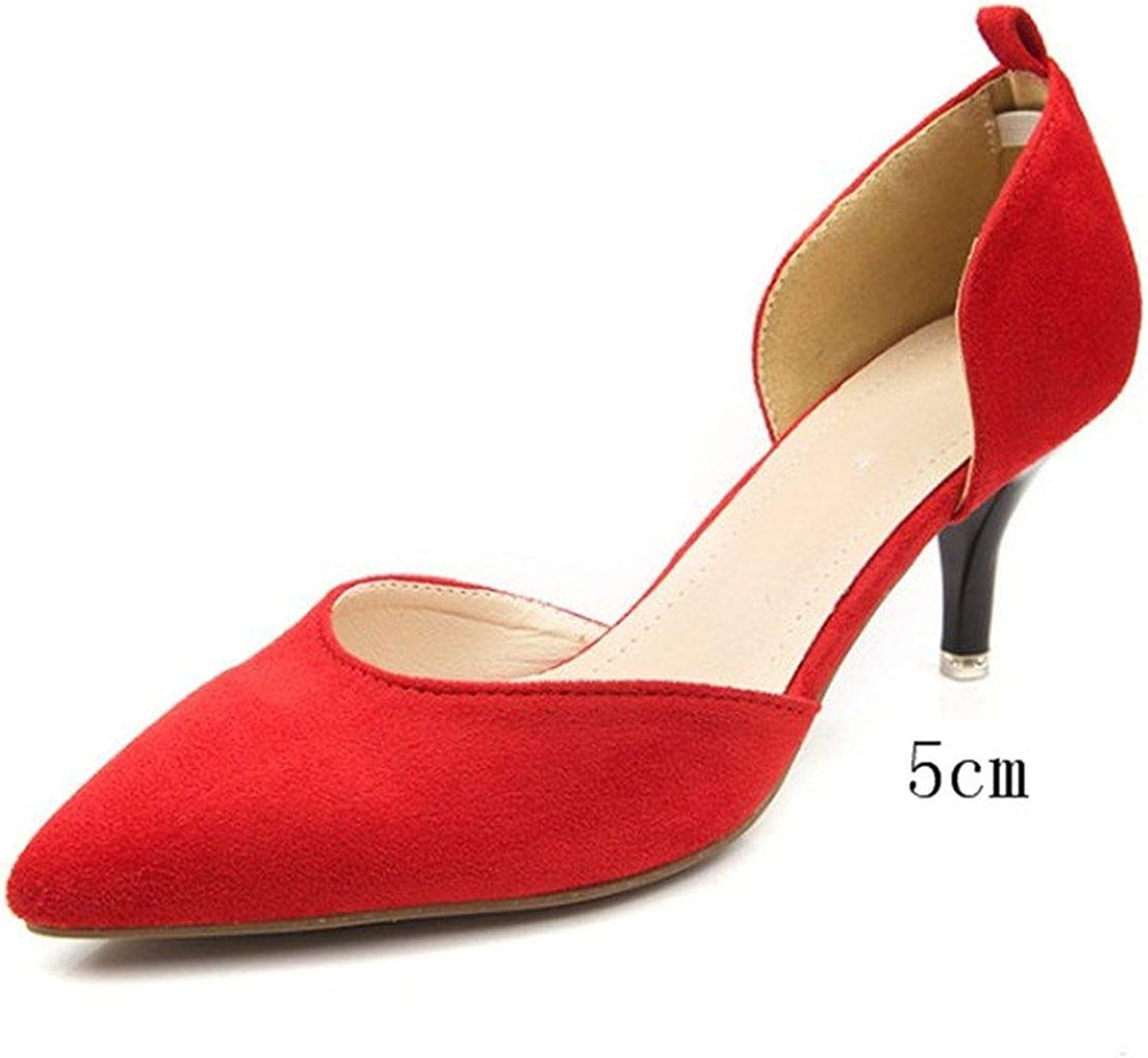 FAT BABY New Pointed Hollow Female Single shoes high-Heeled shoes Shallow Mouth Stiletto Commuter Women's shoes