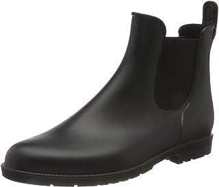 Nzcm Women Mens Rubber Boots Waterproof with Block Heel Size 2.5-9