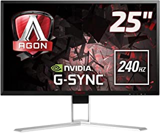 """AOC Agon AG251FG 24.5"""" FHD (1920x1080) G-Sync 240Hz 1ms Gaming Monitor with Built-in Speakers (HDMI, DisplayPort, USB 3.0 ..."""