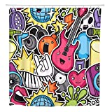 SYLZBHD Bomb Music Party Kawaii Instrumentos Musicales Símbolos Dibujos...