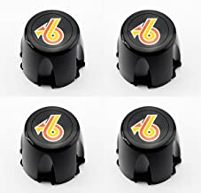 GM Restoration Set of 4 New Wheel Hub Center Caps Black Turbo 6 Replacement for 1986-1987 Buick Regal Grand National