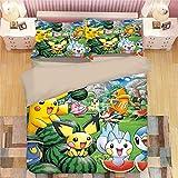 XINFA Pantoufles Pokemon Automne et Hiver Mignons Pantoufles en Coton pour Enfants Pikachu pour garçons et Filles à l'intérieur des Pantoufles en Fourrure de bébé pour Enfants