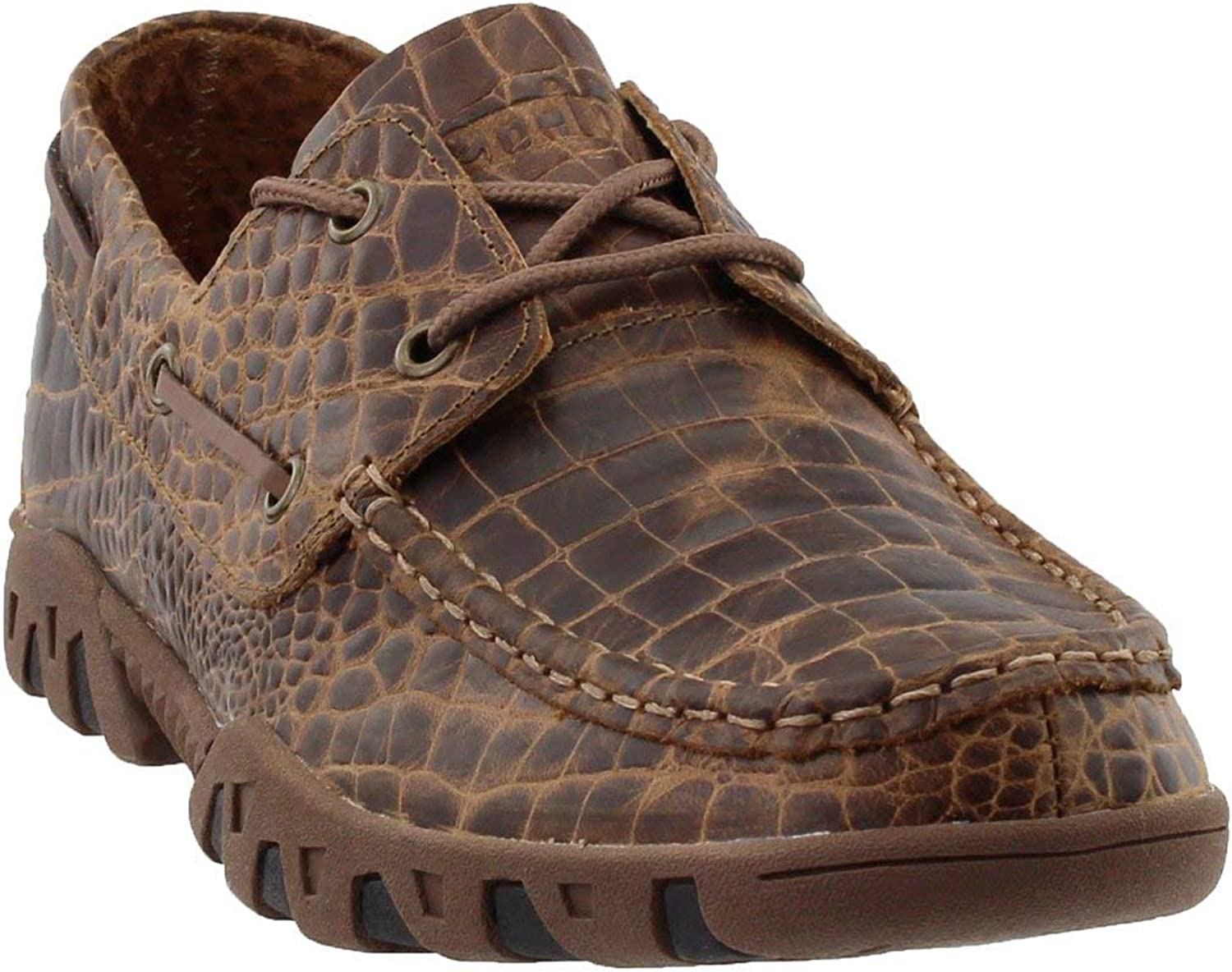 Ferrini Men's Print Belly Loafer shoes, Brown, 8.5 D US