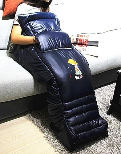 Coussin Chauffant pour Chauffage électrique,WULAU 5 en 1 Corps entier chauffant pour soulager la douleur, réchauffer les pieds,Régulation de la température, amovible lavable(Cuir bleu royal)