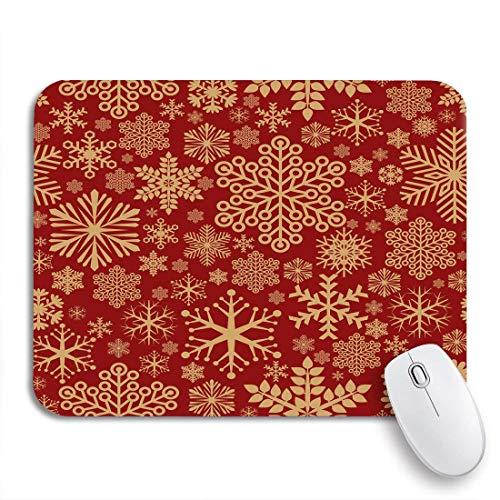 Gaming Mouse Pad Muster Weihnachten Schneeflocke Urlaub Retro Schnee Kugeln Feier Herzlichen Glückwunsch rutschfeste Gummi Backing Mousepad für Notebooks Computer Maus Matten