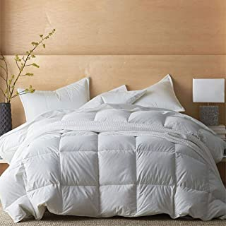 Kotton Culture Comforter 400 GSM Down Alternative 100% Organic Egyptian Cotton Cover 600 Thread Count Super Soft Medium Weight Premium Quality Duvet Insert (Queen/Full, White)