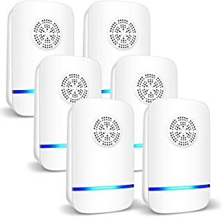 DELFINO 6 Packs Ultrasonic Pest Repeller, Electronic Pest Repellent Plug in Indoor Pest Control for Insect, Roach, Mice, S...